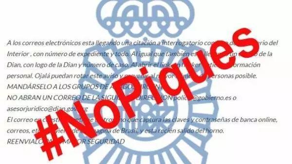 西班牙警察通告:一定要小心别被这种病毒毒害啊...