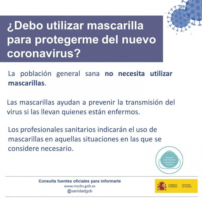 西班牙不建议健康民众使用口罩