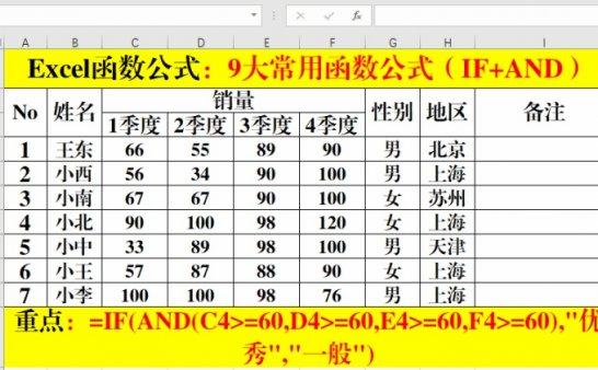 Excel函数公式:办公必备9类函数公式,必须掌握